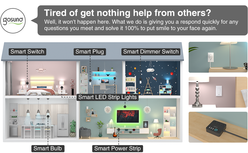 Gosund smart switch with more smart devices