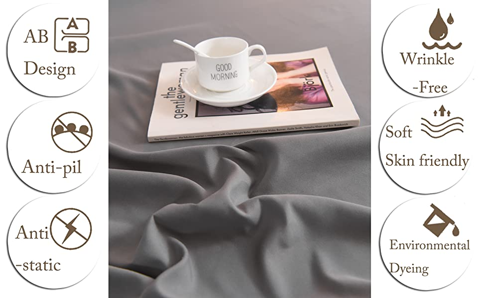 1800 Thread Count 100% BRUSHED MICROFIBER POLYESTER - LIKE SLEEPING ON CLOUDS.