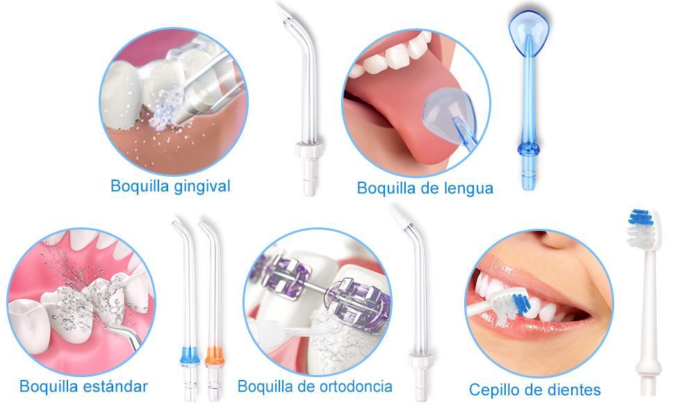 Uvistare irrigador dental 6 boquillas de accesorios incluidos