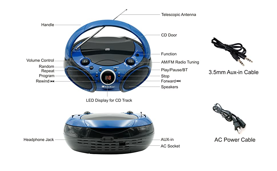 singingwood Bluetooth CD boombox
