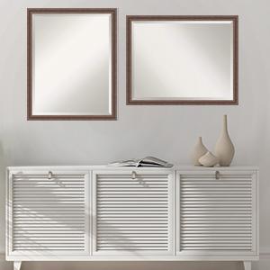 framed wood bathroom vanity wall mirror