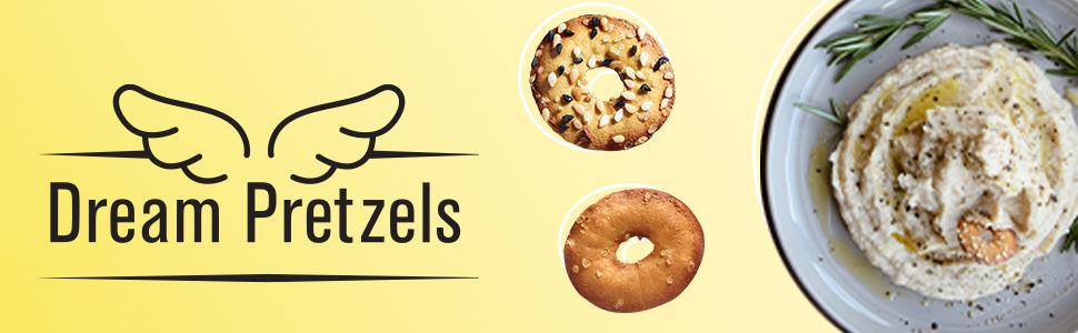 mini pretzels;pretzel chips;pretzel crisps;vegan pretzel;seasoned pretzels;