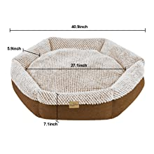 Cat & Dog Bed Cat Cushion Joint-Relief Sleeping Pet Bed Bolster Cat Cushion Cozy