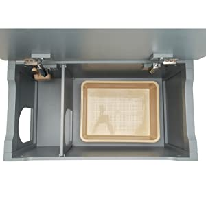 designer catbox litter box enclosure gray