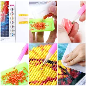 DIY 5D Diamond Paint Number Kit Cross Stitch Full Drill Crystal Rhinestone Embroidery Picture Craft