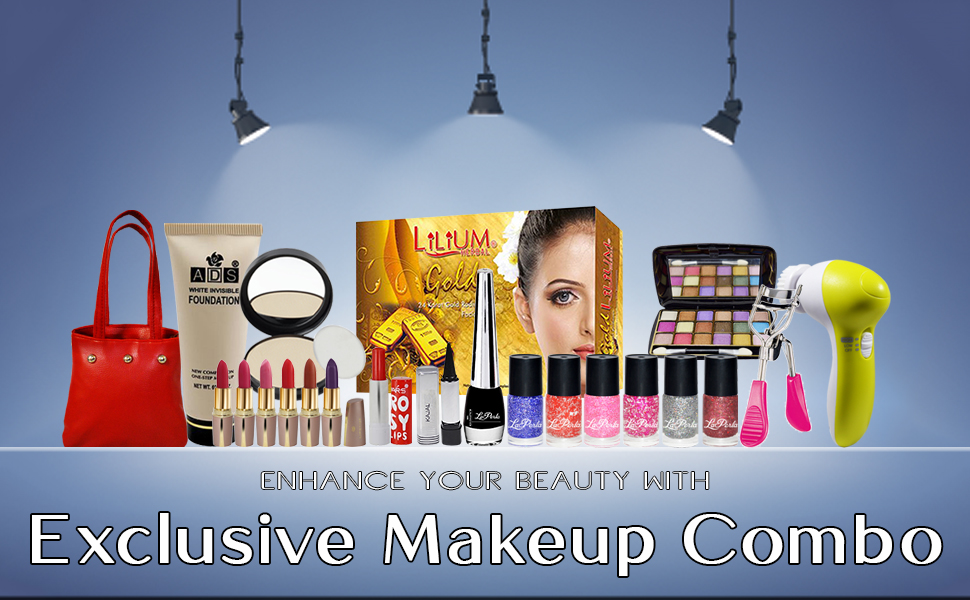 Laperla Exclusive Beauty Combo Makeup Set With Gold Facial Kit