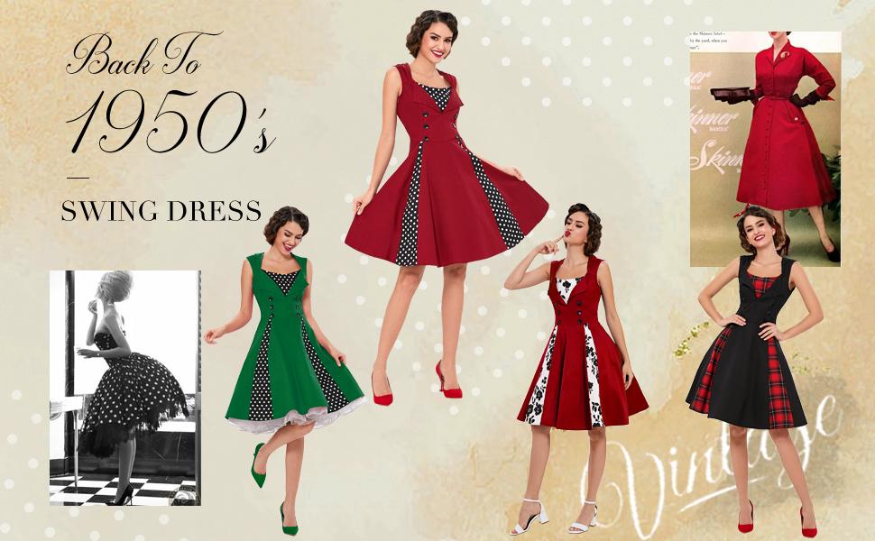 Killreal 1950s Vintage Retro Dress