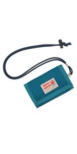 Rough Enough Lanyard Wallet for Kids Boys Girls Teens Slim Minimalist Front Pocket Wallet for Mens