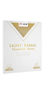 iron on transfer paper for light fabrics