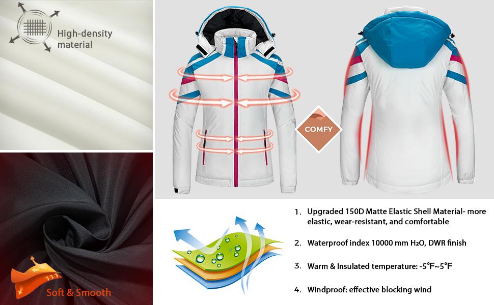 Wantdo women's snow jacket