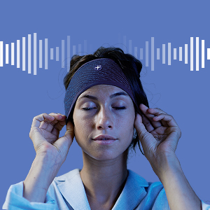 meditation hypnosis sleep asmr flat headband insomnia sound white noise relaxation