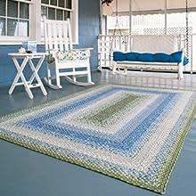 Baja Blue Cotton Braided rugs