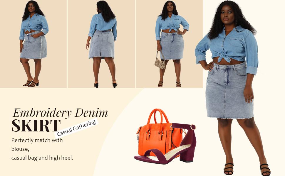 Agnes Orinda Denim Skirt