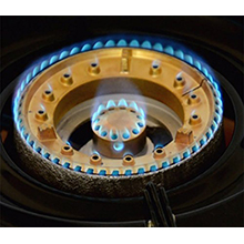 nsd-2 two powerful burners max power 7.2 kW brass ring and bras cap adjustable flame control