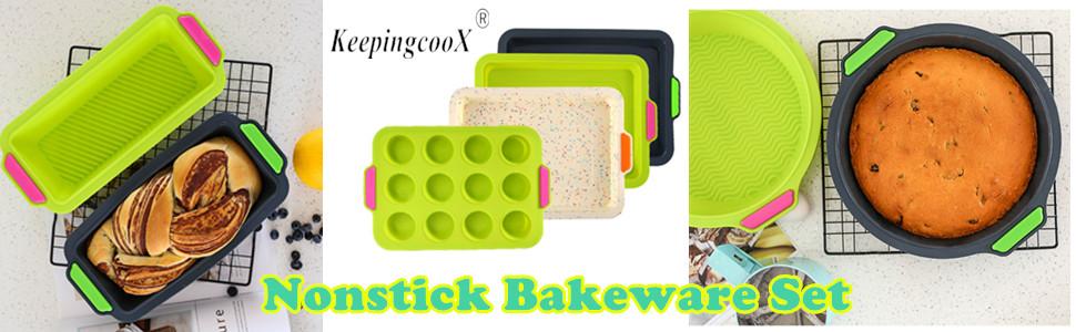 10 Year Guarantee WellBake Silicone 6pce Cake /& Bake Set Non-stick