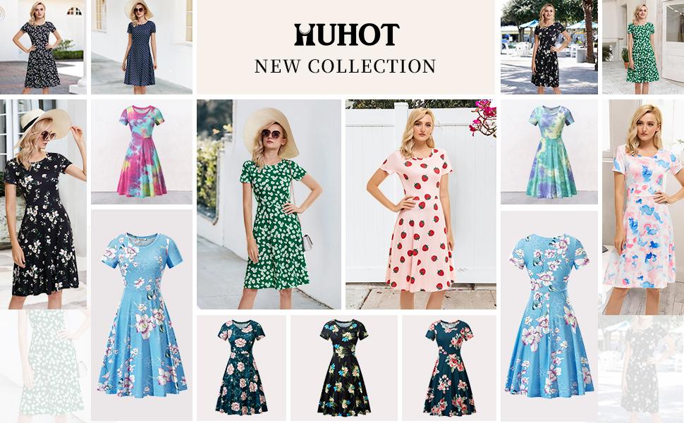 HUHOT New Floral Dress