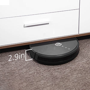 slim body robot vacuum, clean small spaces