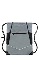grey wet drawstring bag