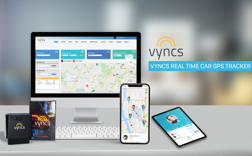 vyncs, gps tracker for vehicles, car gps tracker, fleet tracking, teen tracker, obd, obd2, odb gps