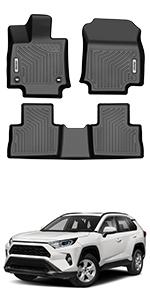 OEDRO Floor Mats Fit for 2019-2020 Toyota RAV4