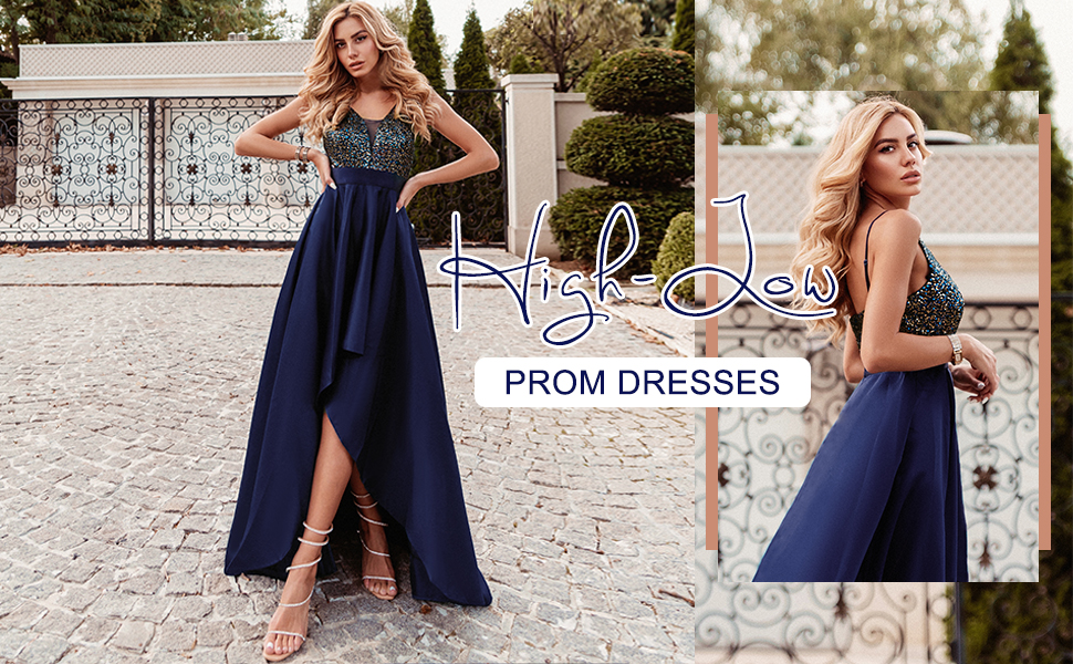 high low evening dresses for women