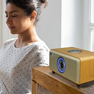 Pure Dynamic Sound Voiz AiRadio Fatigue-less Listening Experience Wireless Speaker HiFi