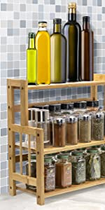 bamboo counter organizer