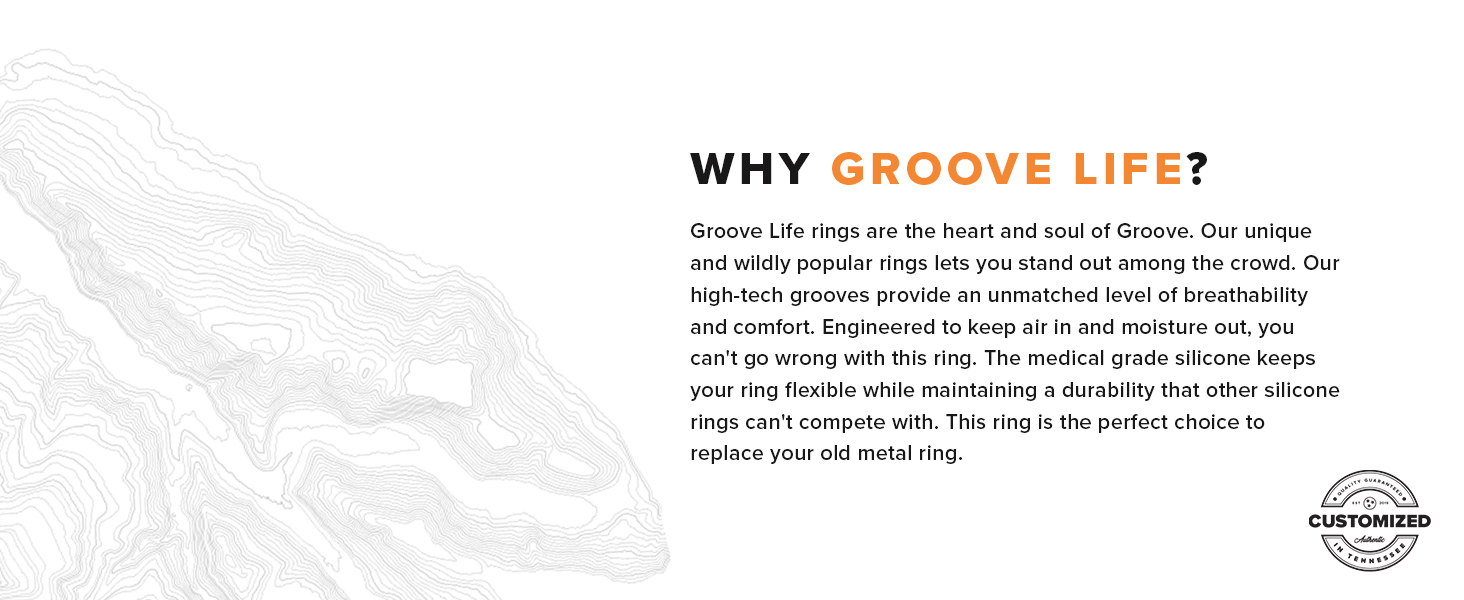 Groove Life Silicone Rubber Wedding Rings Watch Bands