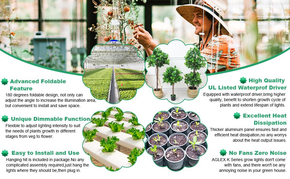 AGLEX grow light provide good service