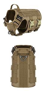 military dog harness velcro