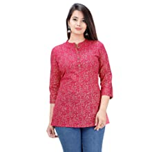 SIDDHANAM Trendy Pink Gold Cotton Pink Gold Printed Casual wear top