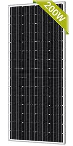 Newpowa 200w solar panel monocrystalline