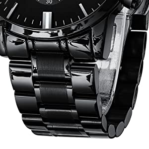 mens watches black sport watches chronograph waterproof watch for men stainless steel wrist watches