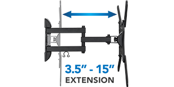 """Extends from 3.5"""" to 15"""""""