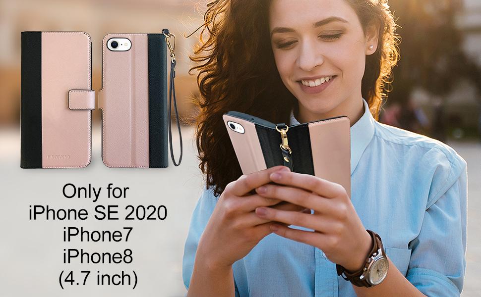 iphone se 2020/7/8 wallet case for women