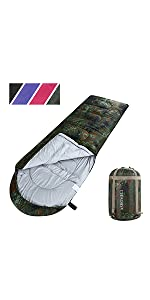 ASHOMELI Camping Sleeping Bags For Adults Camouflage