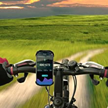 Aonkey bike phone mount fit for different bicycles, like mountain bike or normal.
