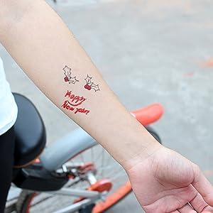 Tatuajes Temporales de Navidad para Niños 6 Hojas Santa Claus ...