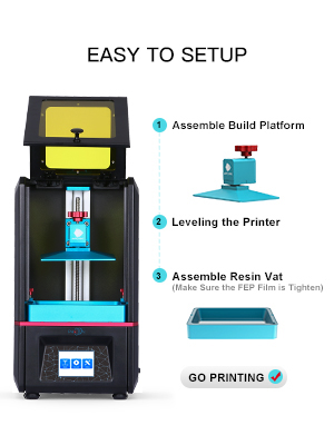 ANYCUBIC Photon UV LCD 3D Printer Assembled Innovation with 2.8 Smart Touch Color Screen Off-line Print 4.53