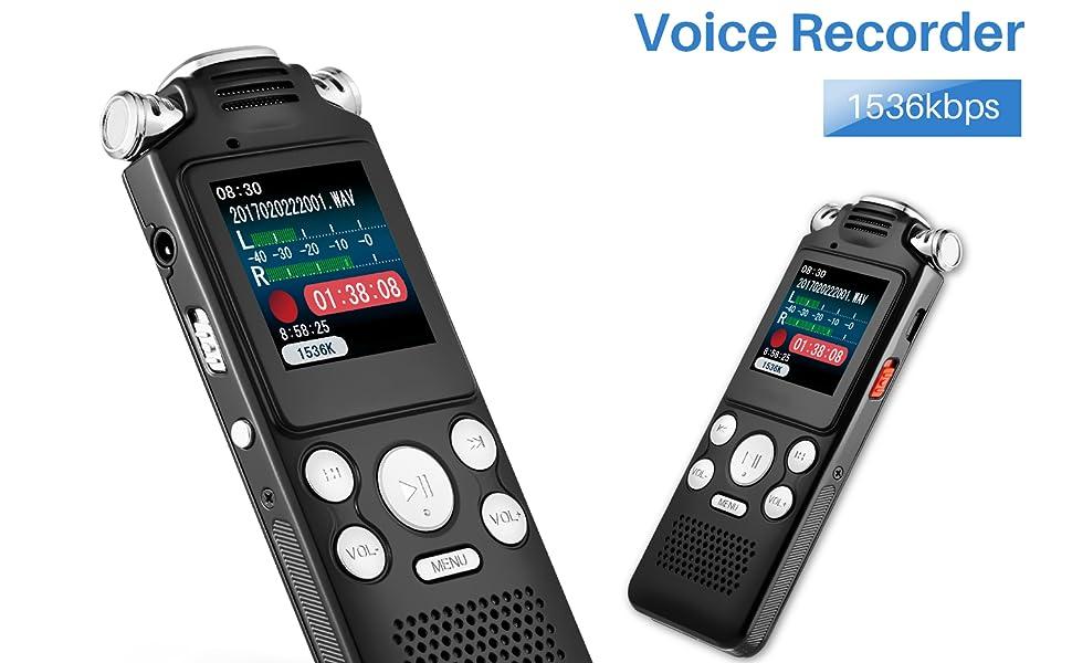 AUTENS Digital Voice Recorder 16GB
