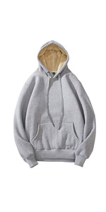 Sherpa Lined Pullover Hoodie