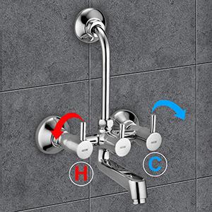 alton, wall mixer, 3 in 1 mixer, mixer for shower, tap, taps, bathroom taps, water tap, water mixer