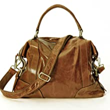 """Tumbled top-grain """"Vintage"""" leather with soft hand feel and beautiful shine"""