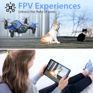Flashandfocus.com b993c74c-9f85-4492-b1f9-4b2bfcc29c4a.__CR0,0,300,300_PT0_SX300_V1___ Mini Drone with camera for KidsBeginners , Foldable Pocket RC Quadcopterwith App Gravity Voice Control Trajectory Flight, FPV Video, Altitude Hold, Headless Mode, 360°Flip, Toys Gifts for Boys Girls