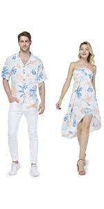 Couple Matching Sets Hawaiian Style Sandy Beach