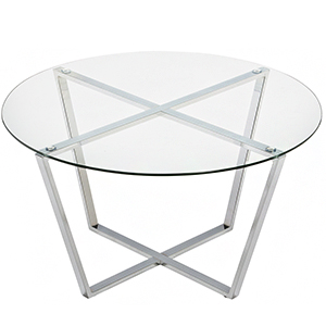 clear tempered glass top coffee table for living room