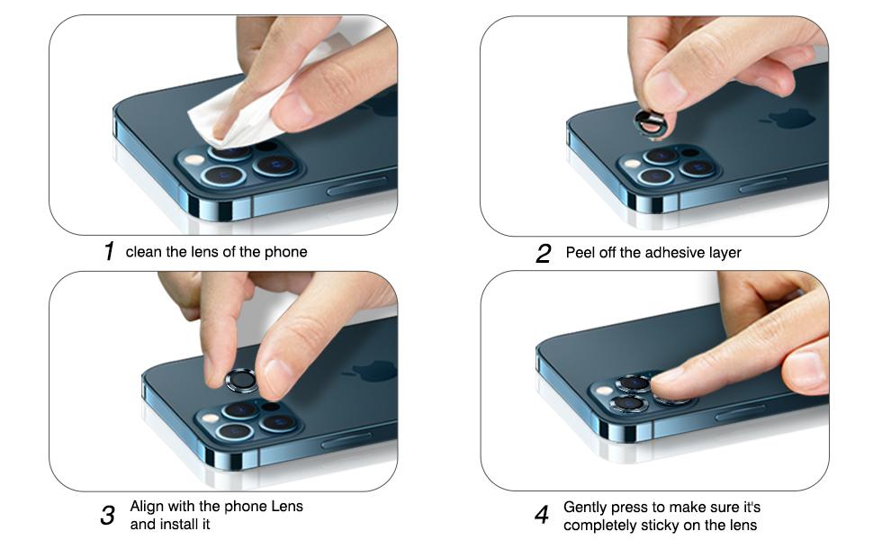 iPhone 12 pro max camera lens protector