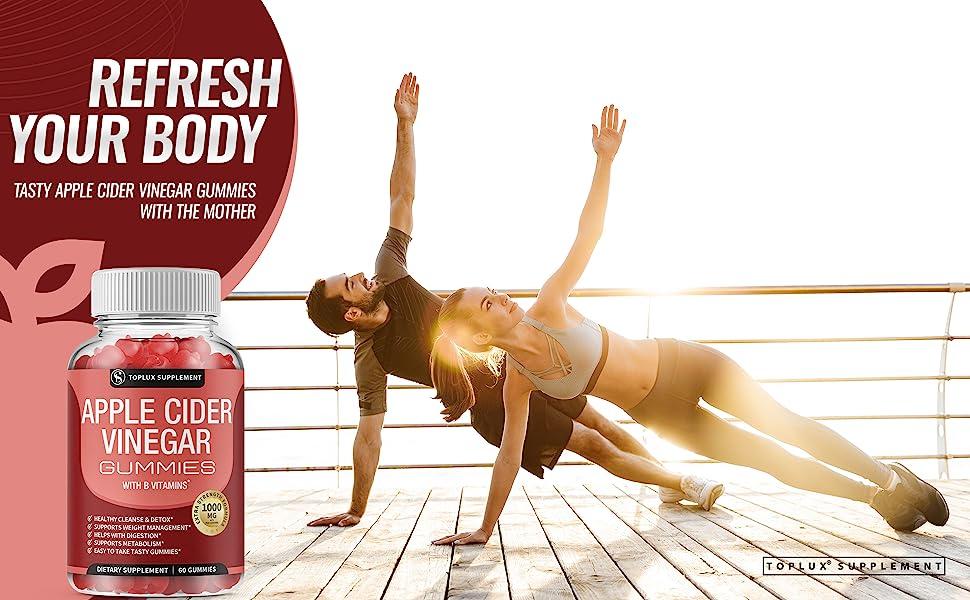Apple Cider Vinegar Gummies toplux supplement detox cleanse weight