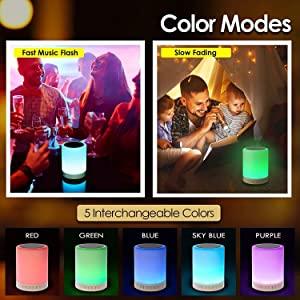 led rgb  mood lamp bluetooth speaker portable