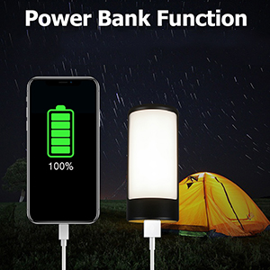 tent light with power bank function